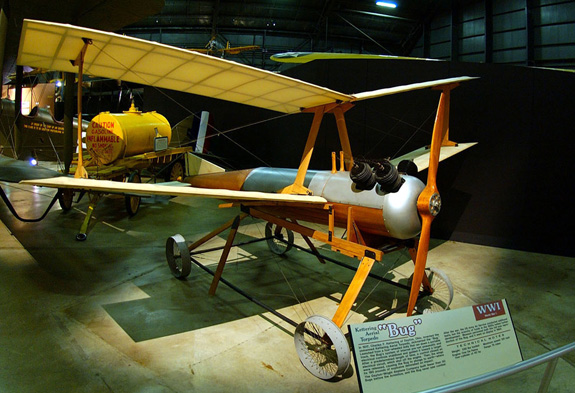 "DAYTON, Ohio -- Kettering Aerial Torpedo ""Bug"" at the National Museum of the United States Air Force. (U.S. Air Force photo)"