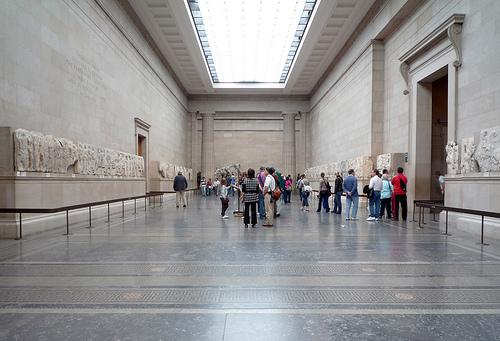 Fregio ionico del Partenone. Panoramica d'insieme