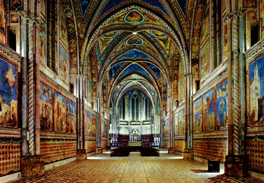 Interno della Basilica superiore di San Francesco D'Assisi - Giotto 1