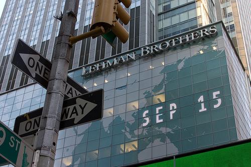La sede di Lehman Brothers, une delle punte dell'iceberg della crisi scopiata nel 2008.