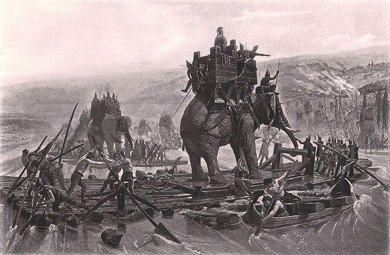 Allegato 19 - 1878, Henri Motte, Annibale Barca attraversa il Rodano