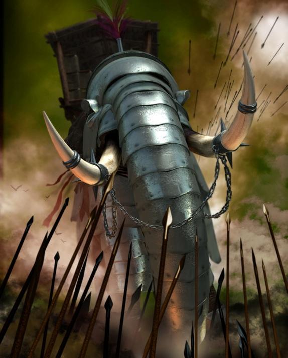 Allegato 20 - Luca Tarlazzi, Elefante da Guerra Cartaginese, 2016