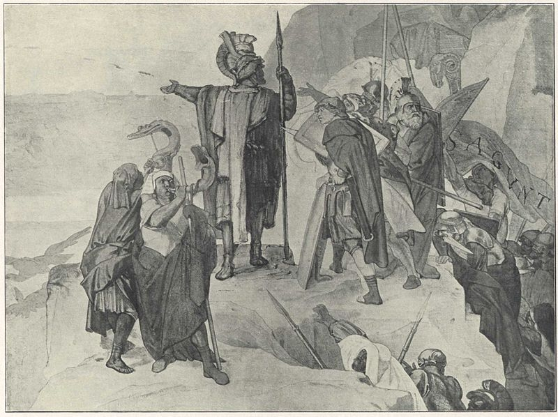 Allegato 6 - 1907 (e non 1842) - Alfred Rethel, Hannibalszug_6 Annibale mostra la Pianura Padana ai propri eserciti