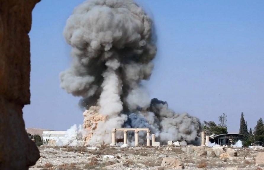 Tempio di Baalshamin a Palmyra. (agosto 2015).