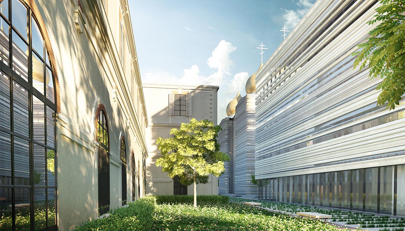 In ottemperanza alle regole vigenti nella capitale francese, il complesso è dotato di ampie superfici verdi, anche sulle coperture.
