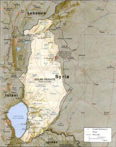 Los Altos del Golán (mapa confeccionado por la CIA)