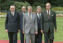 G7 1978 a Bonn: Andreotti, Fukuda, Carter, Schmidt, Giscard